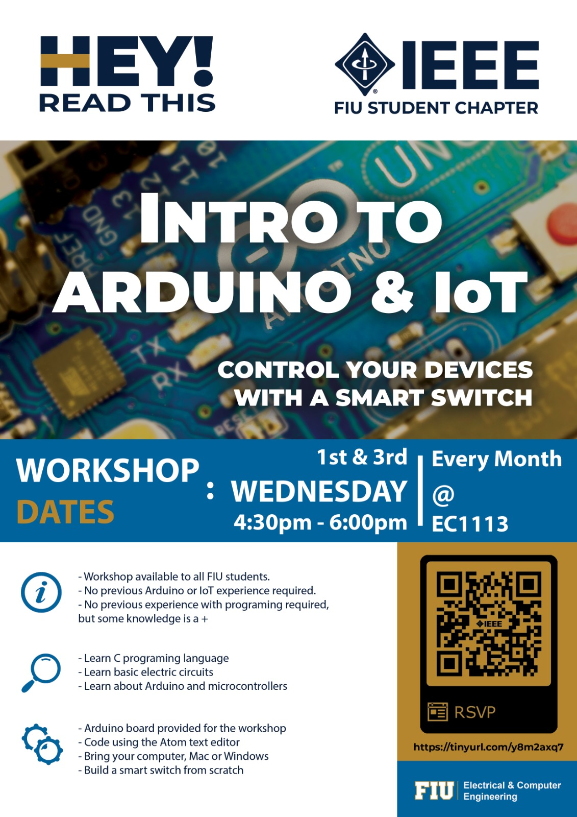 Workshop Iot And Arduino Institute Of Electrical Electronics Project On Electric Circuit Would You Like To Learn About Internet Things Or How Use An For Your Next Then Join Us October 3rd 430 Pm 600 Ec